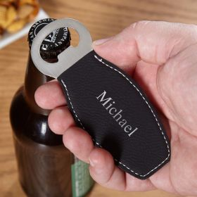 Black & Silver Engravable Beer Bottle Opener