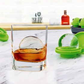 Crystal-Clear Sphere Ice Molds, Set of 4