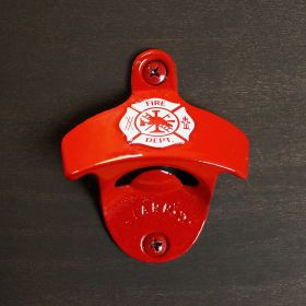 Firefighter Red Maltese Cross Hanging Bottle Opener