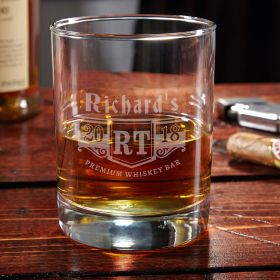 Bedingfeld Monogram Personalized Whiskey Glass