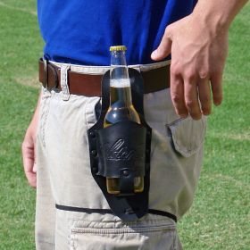 Black Leather Beer Holster