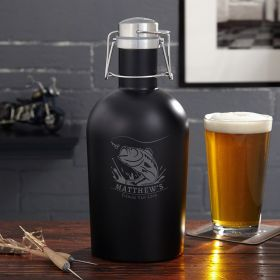 Big Catch Personalized Stainless Beer Growler