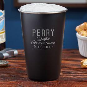 Classic Groomsman Gift Custom Stainless Steel Pint