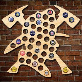 Brave Firefighter Beer Cap Map