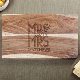 Happy Couple Personalized Wedding Cutting Board