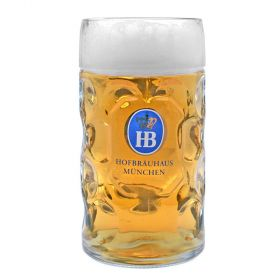 Hofbrauhaus Dimple German Beer Mug - 1 Liter