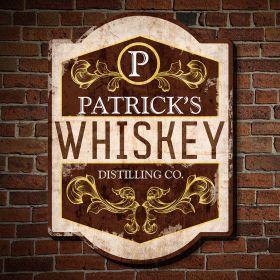 Vintage Distillery Personalized Pub Sign