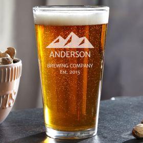 Rocky Mountain Custom Pint Glass