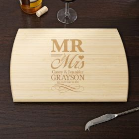 Wedding Day Personalized Cutting Board, 10x14