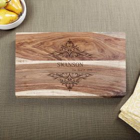 Family Home Exotic Hardwood Custom Cutting Board