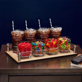 Prime Time Cinema Engraved Snack and Drink Serving Set