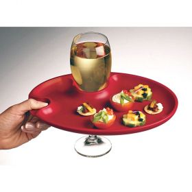 Appetizer Wine Plates (Red)