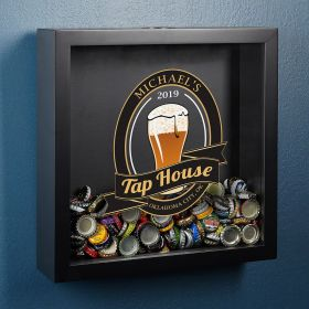 Tap House Personalized Shadow Box for Beer Lovers