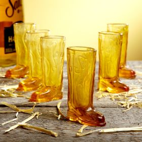 Cowboy Up Shot Glasses Set, Amber