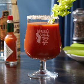 Bloody Mary Bar Personalized Hurricane Glass
