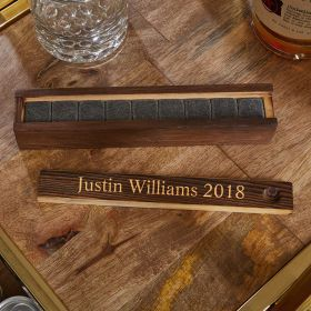 Burton Whiskey Stones & Personalized Gift Box Set