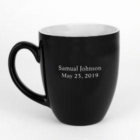 BarElements Personalized Coffee Mug, Black