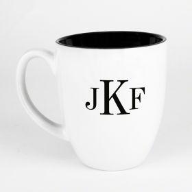 Classic Monogram Personalized Coffee Mug, White