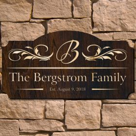 Westcott Personalized Family Name Sign (Signature Series)