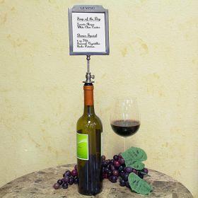 Liste de Vins Pewter Bottle Stopper Wine Menu