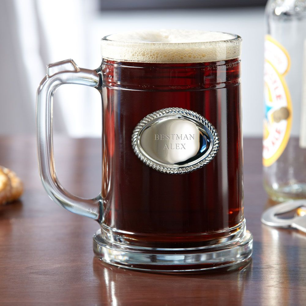 For the Groomsmen, Personalized Beer Mug