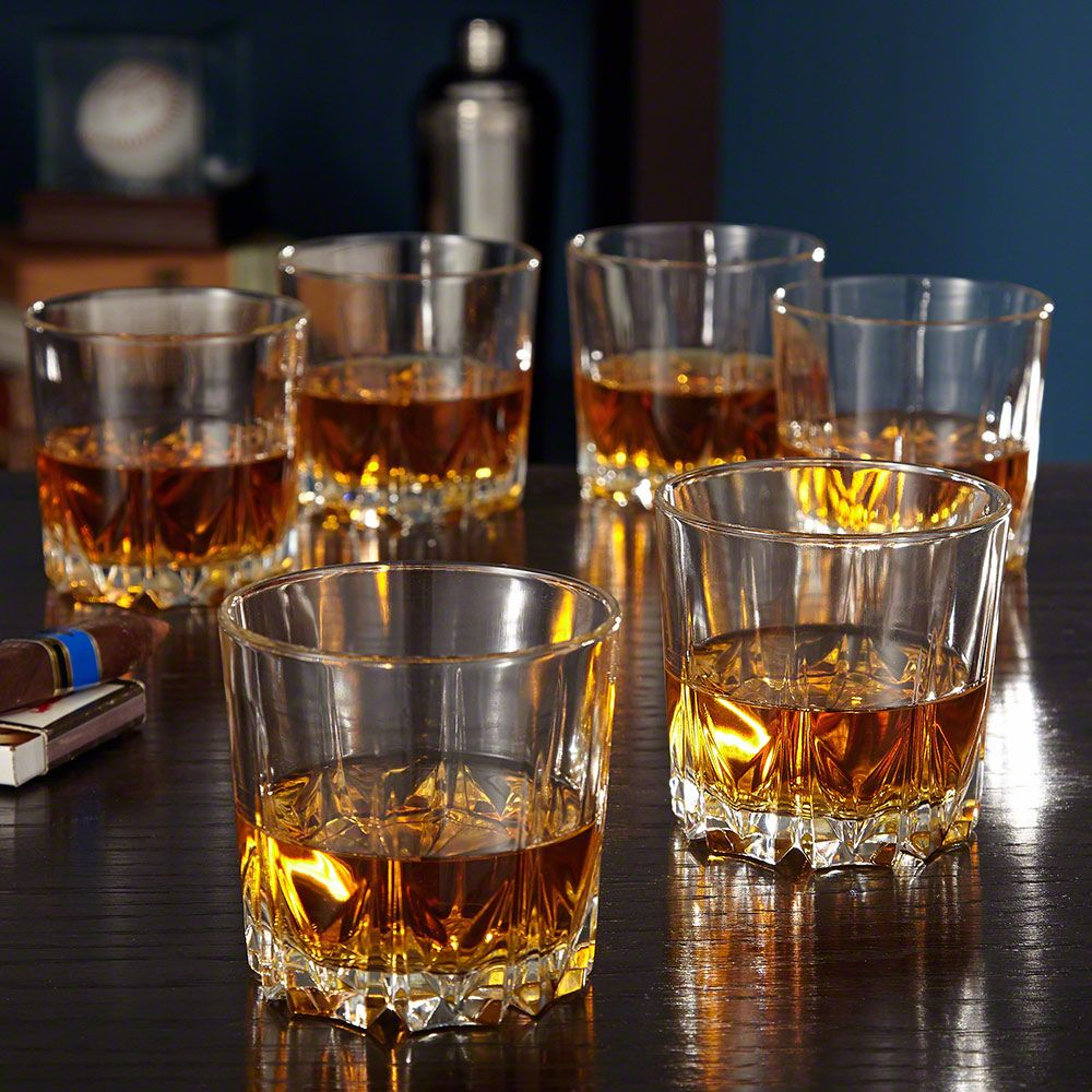 Florence Crystal Whiskey Glasses, Set of 6