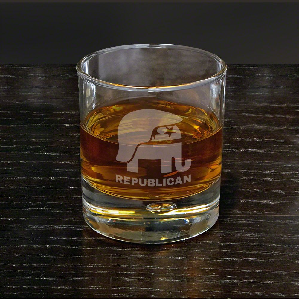 Hair of the Donald Engraved Rocks Glass