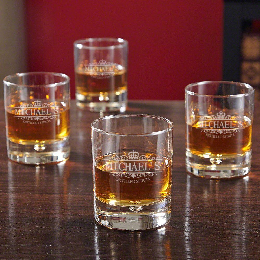 Bryne Kensington Personalized Whiskey Glasses, Set of 4