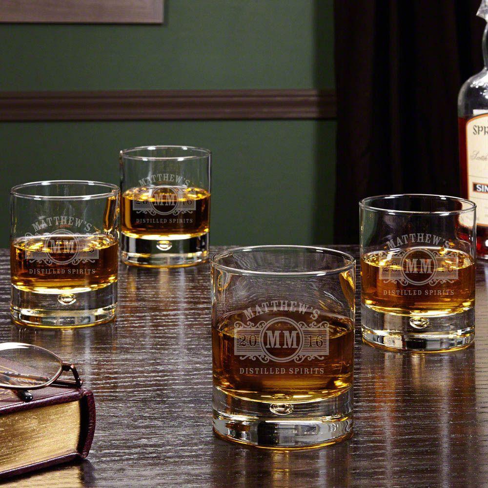 Marquee Custom Whiskey Glasses, Set of 4
