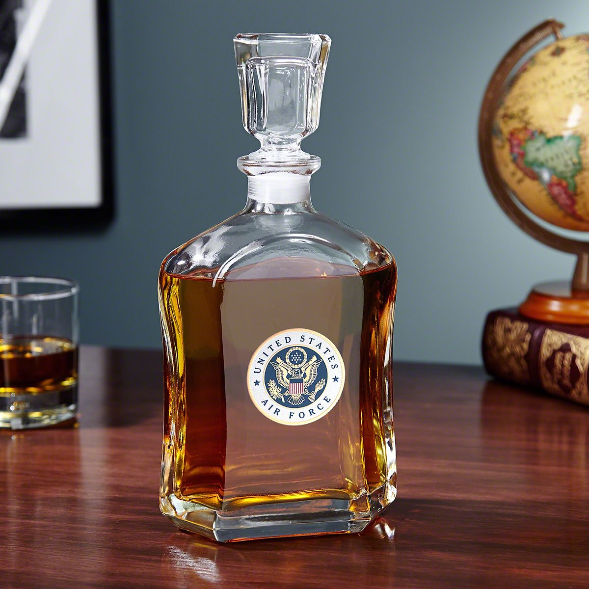 US Air Force Crested Liquor Decanter