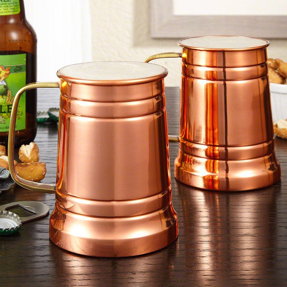 Koln Copper Beer Tankards, Set of 2
