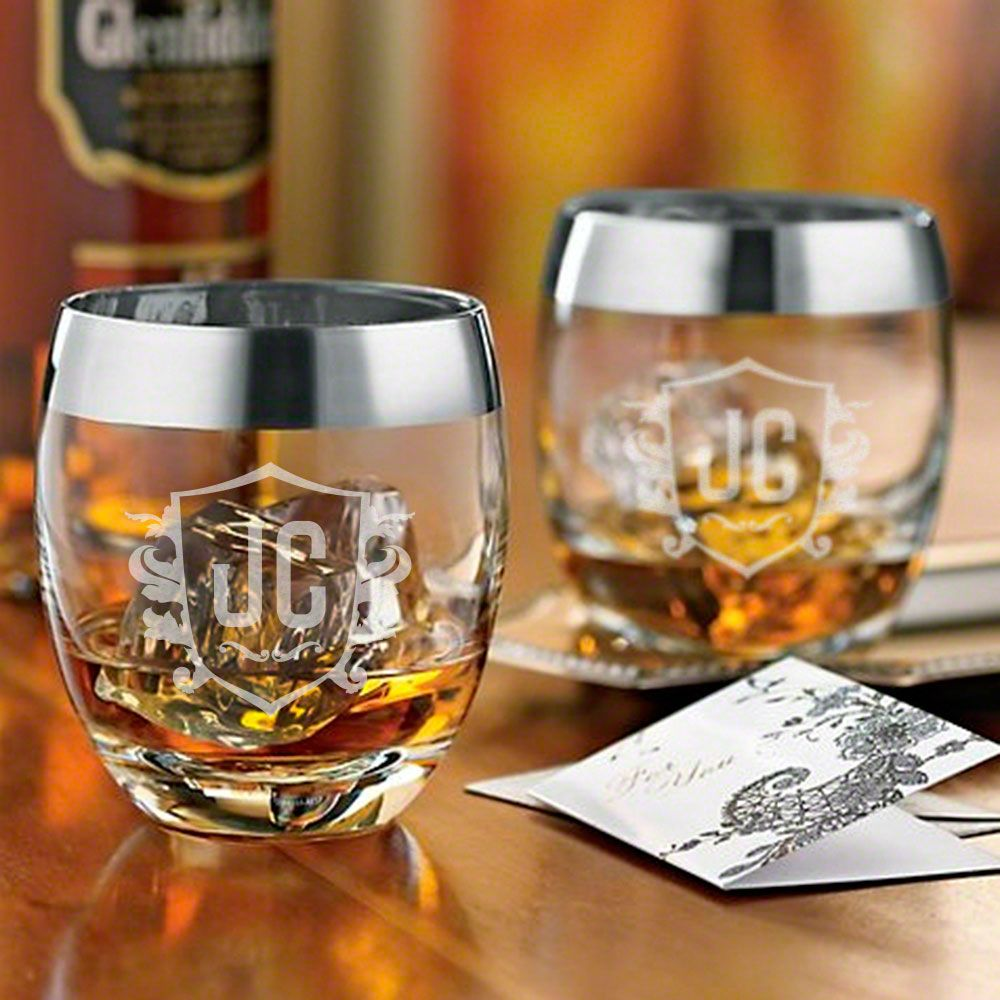 Colchester Engraved Simply Class Whiskey Glasses, Set of 2