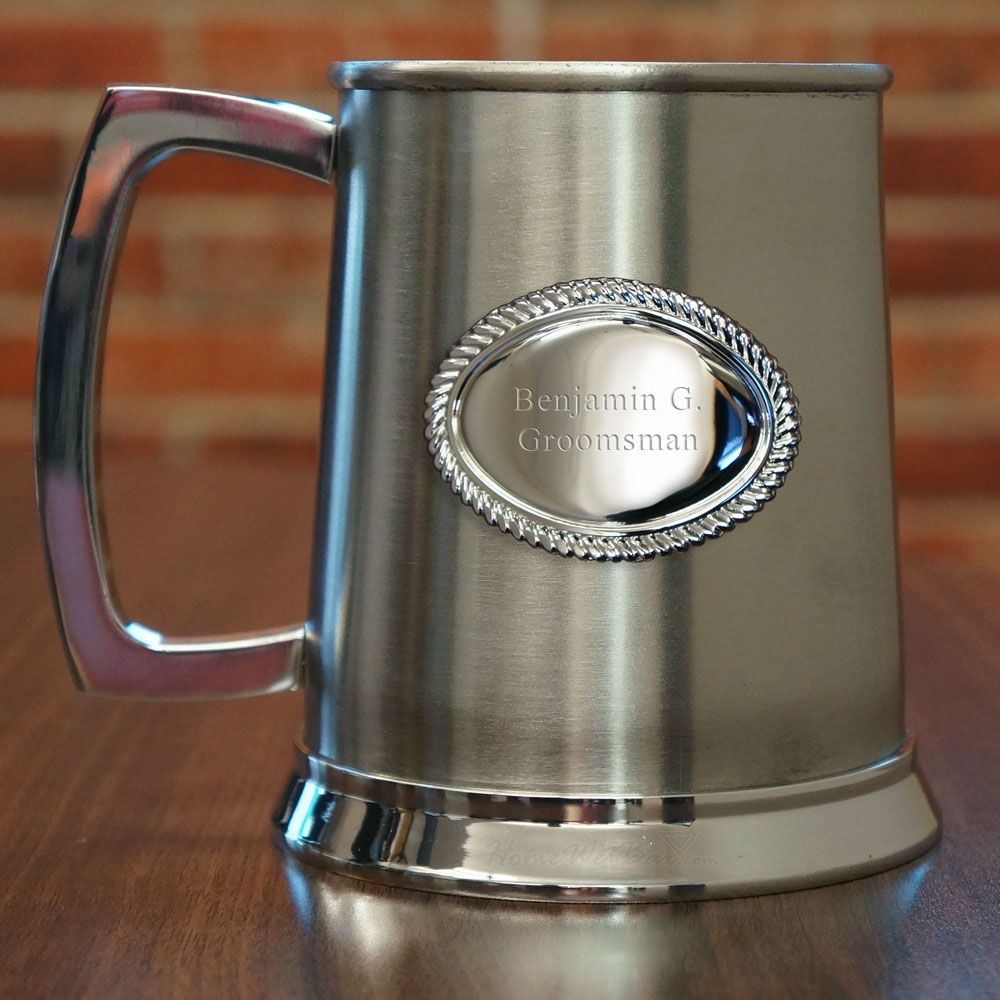 Regent Polished Beer Stein with Braided Crest