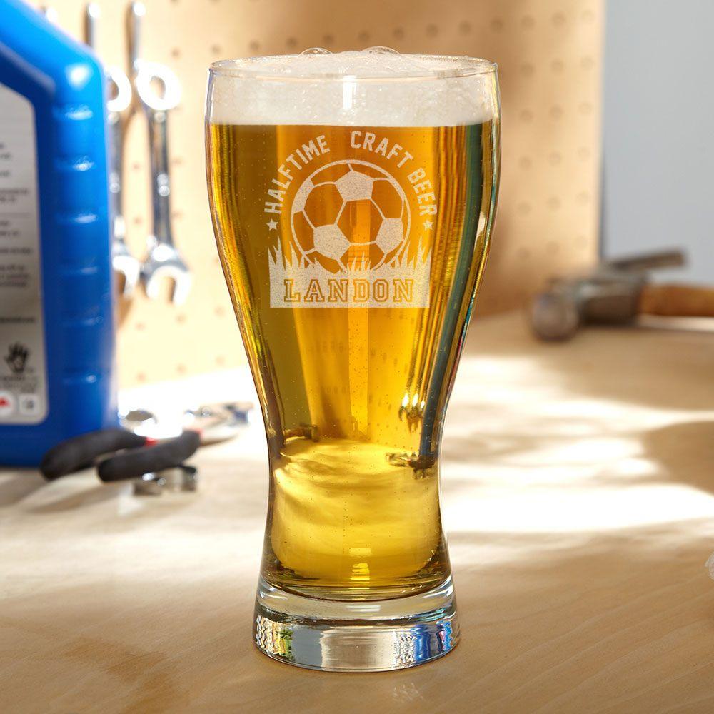 Halftime Soccer Personalized Pilsner Glass