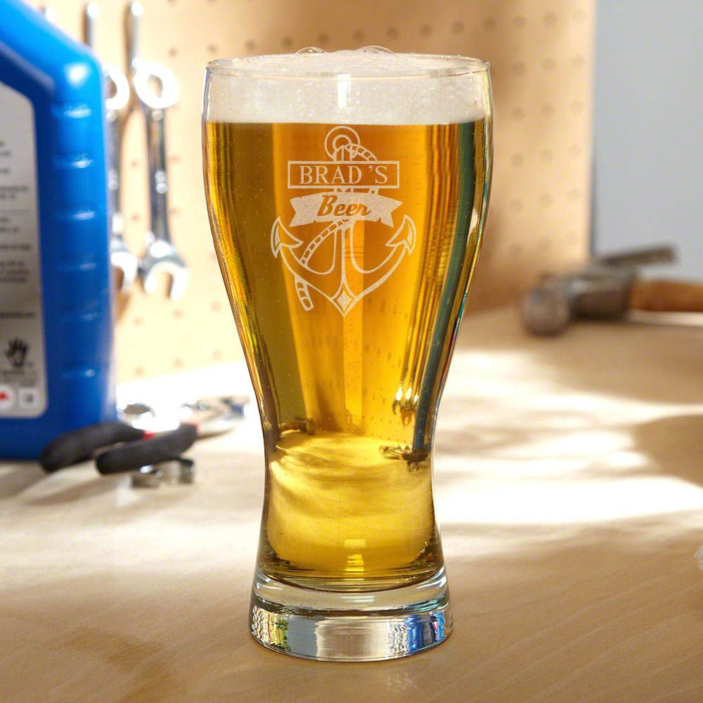 Anchors Aweigh Personalized Pilsner Glass
