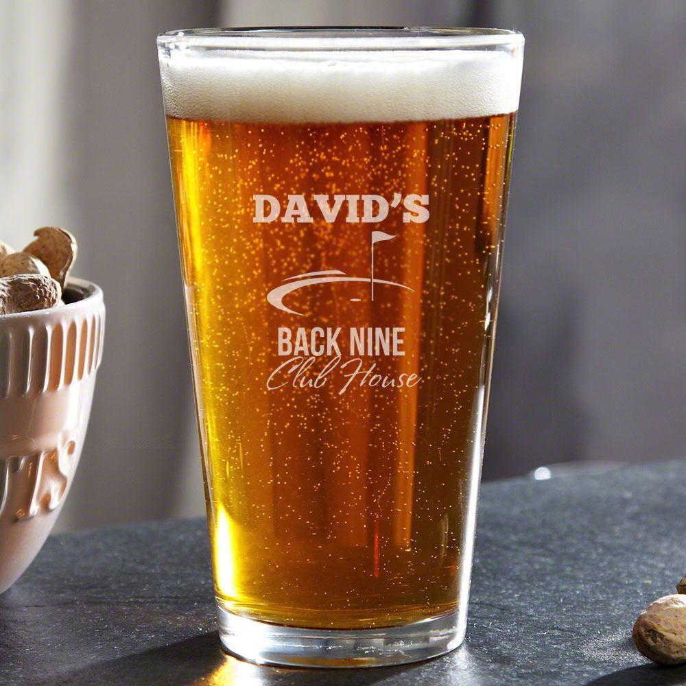 Back Nine Club House Custom Pint Glass