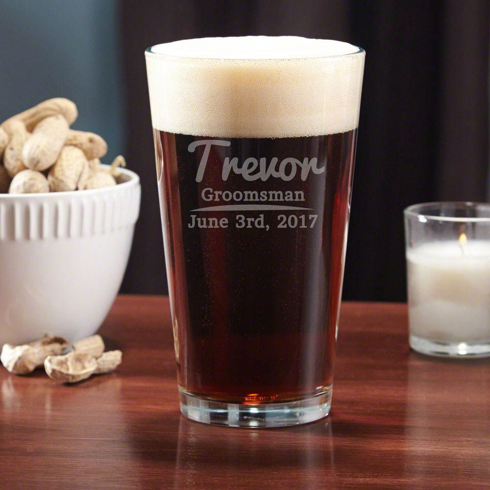 The Big Day Personalized Pint Glass