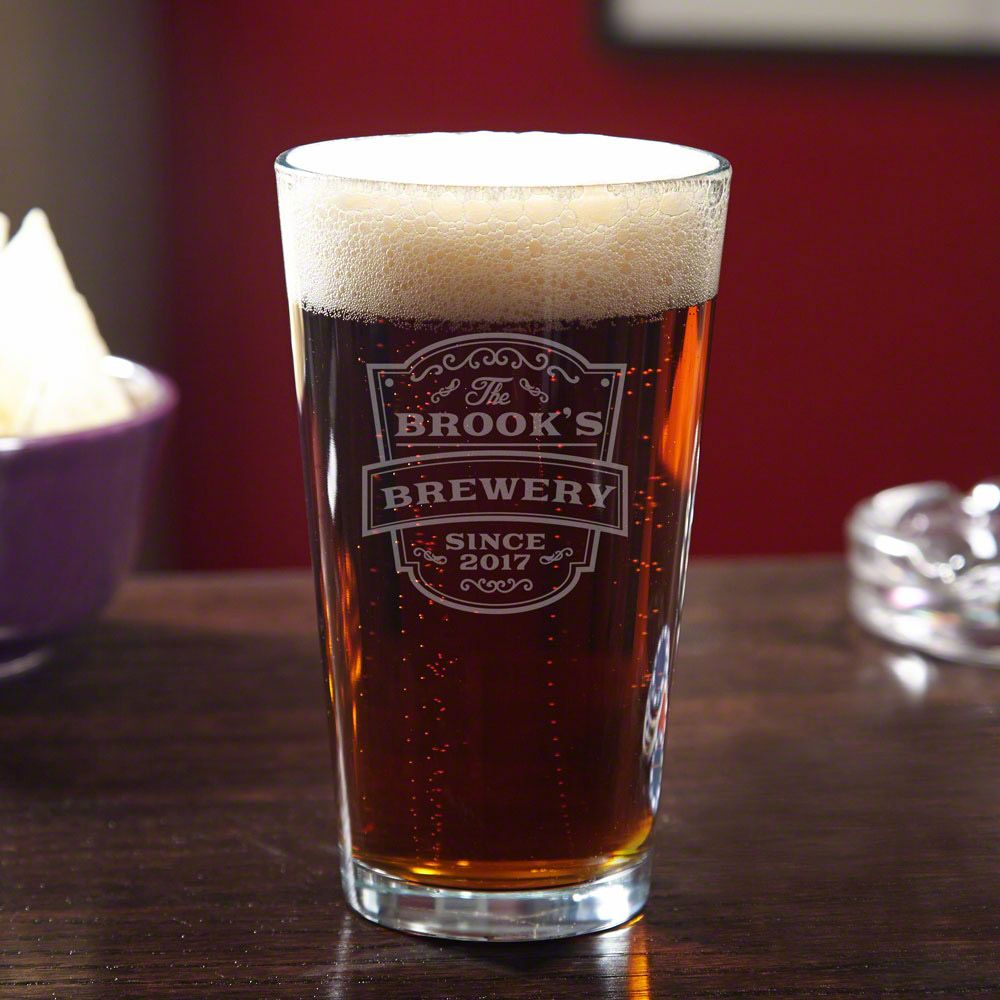 Vintage Brewery Personalized Pint Glass
