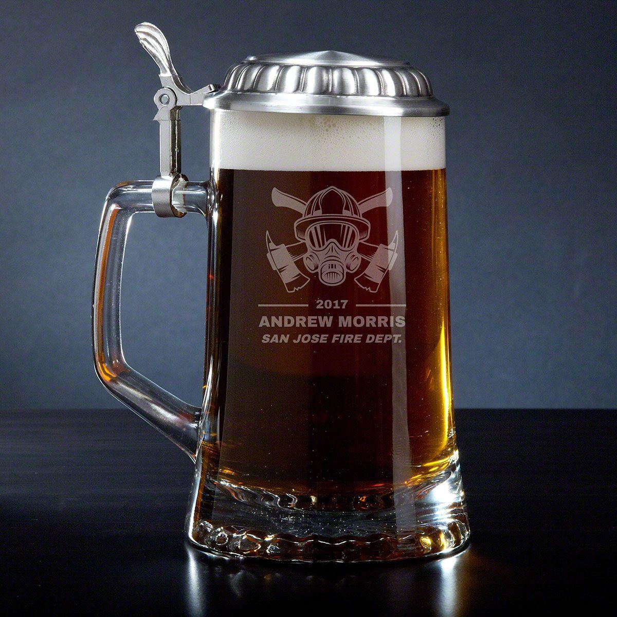 Hot Times Fire Watch Custom Beer Stein