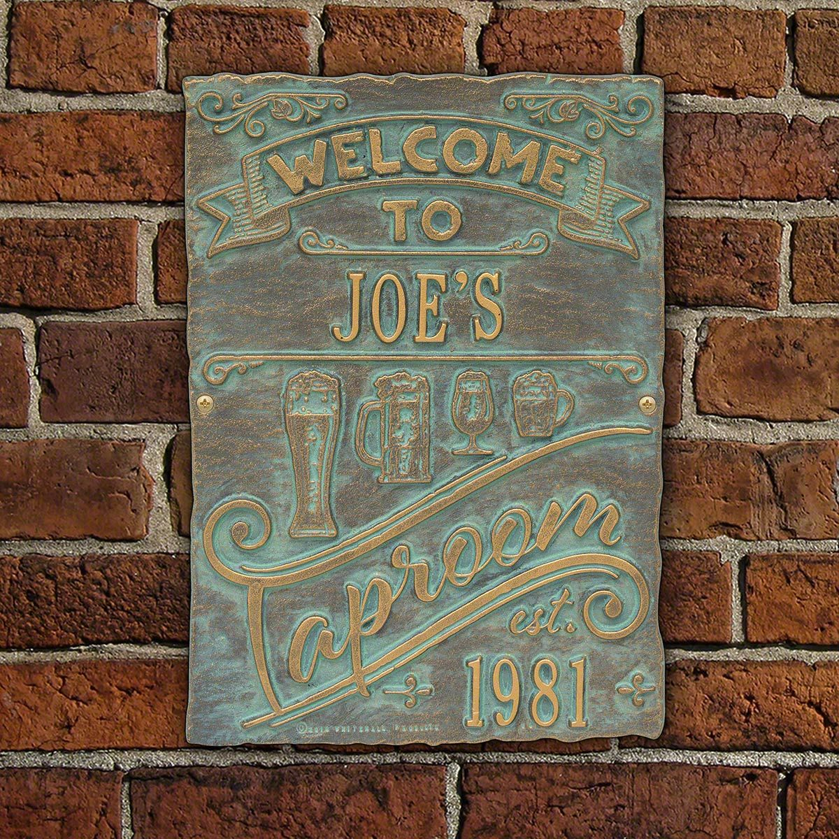 Taproom Brew Pub House Plaque Personalized - 8 Color Options