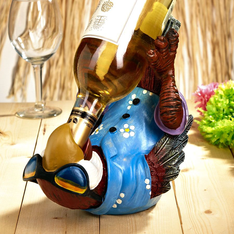 Parrothead Wine Bottle Holder