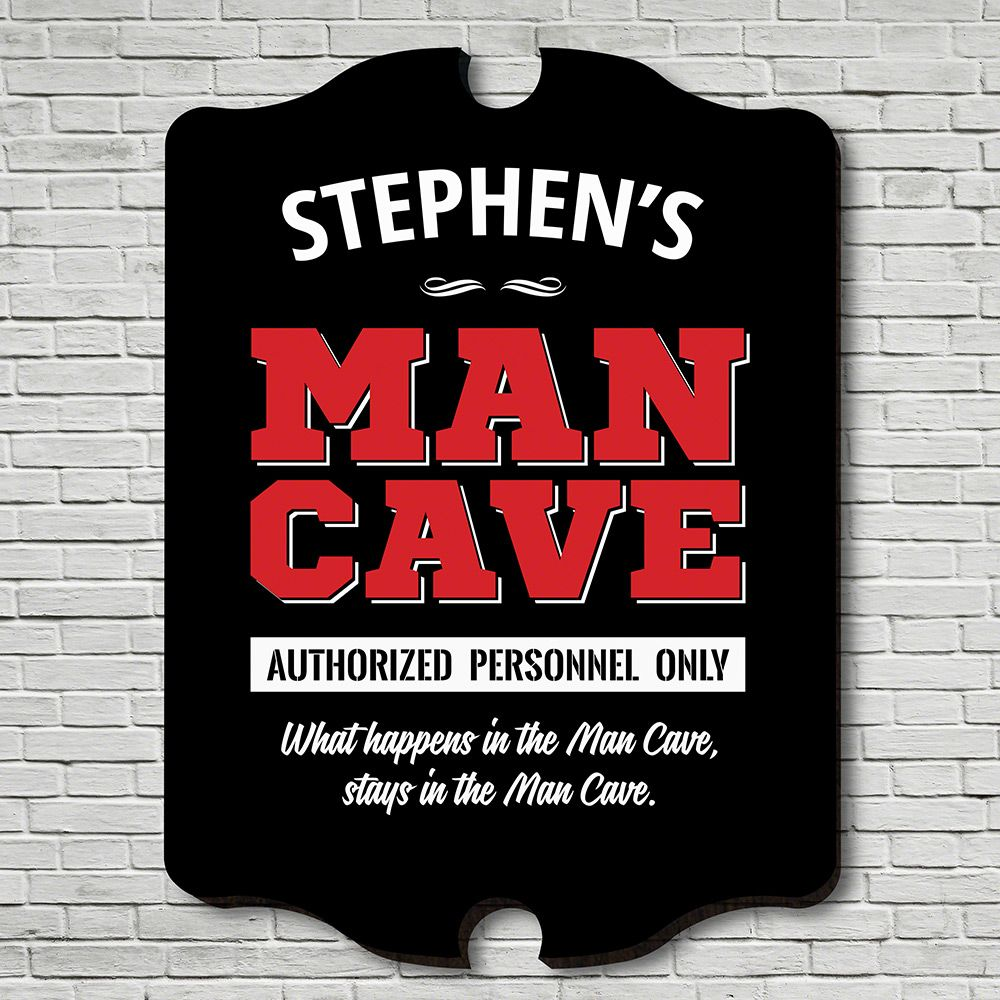 Personnel Only Man Cave Personalized Sign