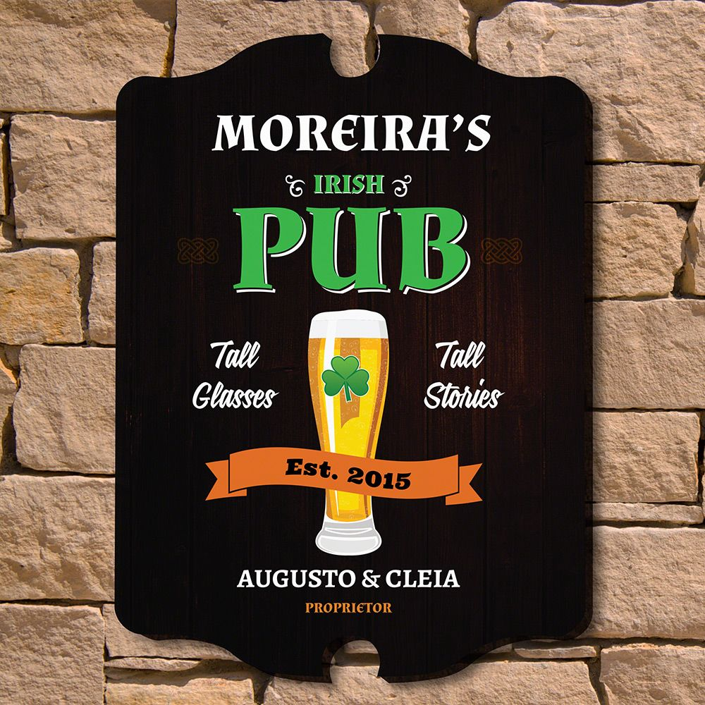 Irish Pub Custom Wood Sign