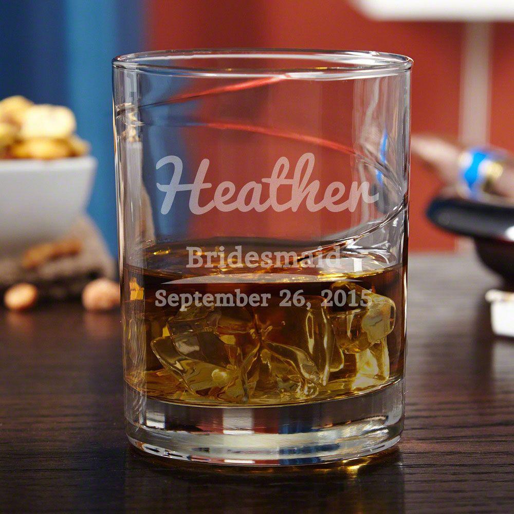 The Big Day Custom Swirl Whiskey Glass