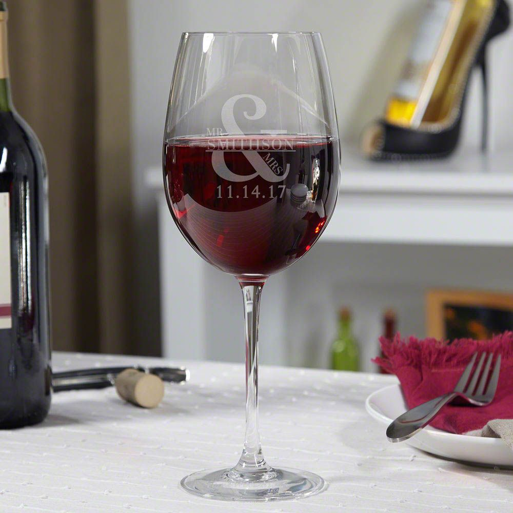 Love & Marriage Personalized Wine Glass