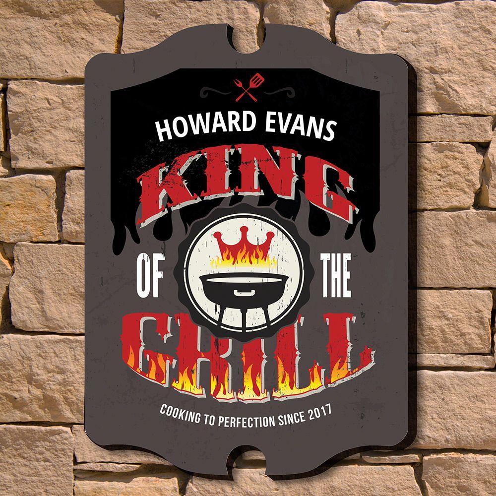 Grill King Custom Wood Sign