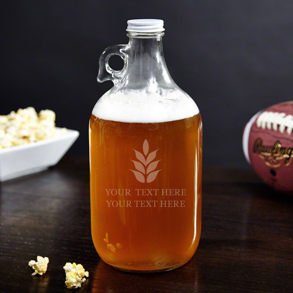 Naturally Brewed Personalized Beer Growler