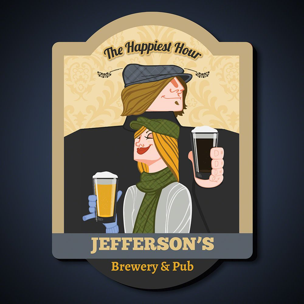 Happiest Hour Personalized Pub Sign