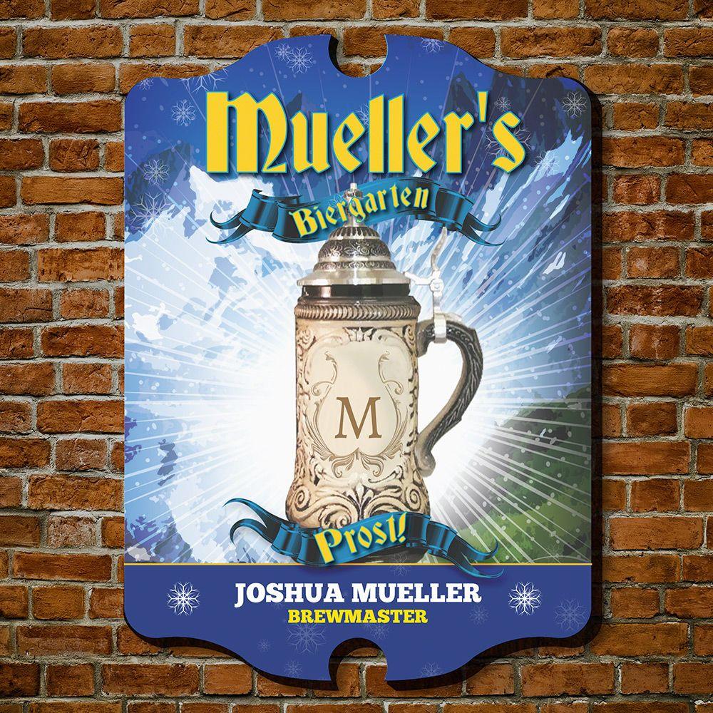 Brewmaster Biergarten Personalized Beer Sign