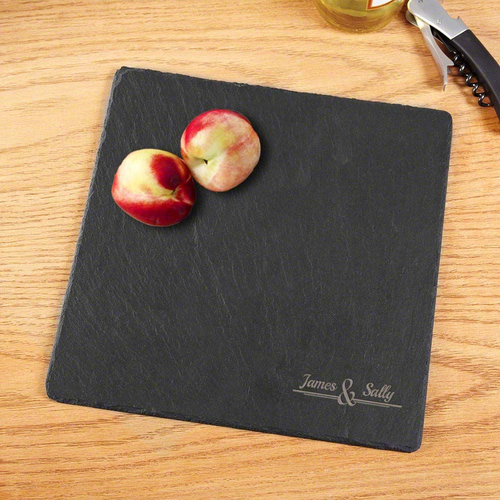 The Name of Love Engraved Slate Cheese Board